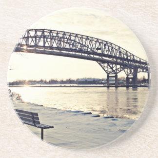 Bluewater Bridge In Sarnia, Ontario Beverage Coasters