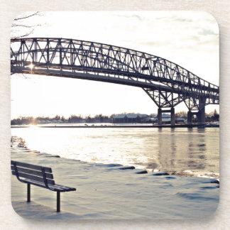 Bluewater Bridge In Sarnia, Ontario Drink Coasters