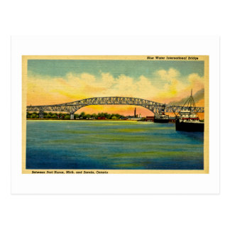 Bluewater Bridge Port Huron Michigan Postcard