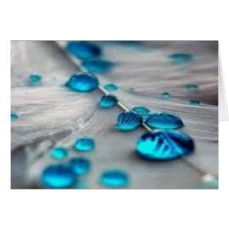 bluewater dropletts greeting card