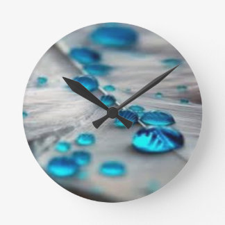 bluewater dropletts round clock