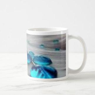 bluewater dropletts classic white coffee mug