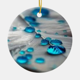 bluewater dropletts Double-Sided ceramic round christmas ornament