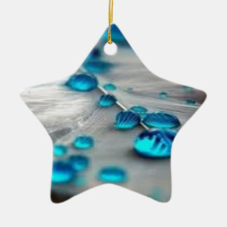 bluewater dropletts Double-Sided star ceramic christmas ornament