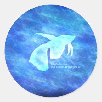 BlueWaters Round Stickers