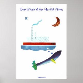 BlueWhale y la luna de las estrellas de mar Póster