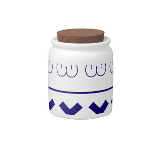 Bluewhite Ornaments Candy Jars