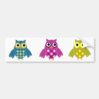 Blue'Z  the Adorable Owl Bumper Sticker