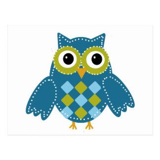Blue'Z  the Adorable Owl Postcard