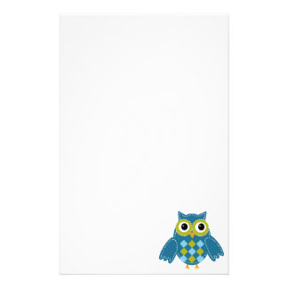 Blue'Z  the Adorable Owl Stationery