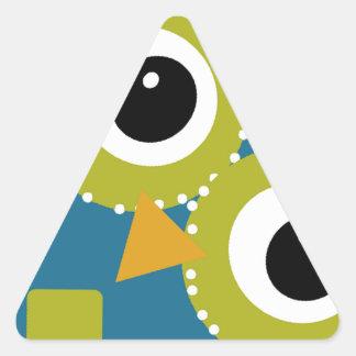 Blue'Z  the Adorable Owl Triangle Sticker