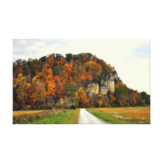 Bluff and Road Canvas Print