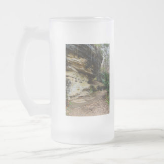 Bluff Lined Walkway Frosted Glass Beer Mug