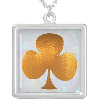 BLUFF MASTERS CLUB - Poker Mania Square Pendant Necklace