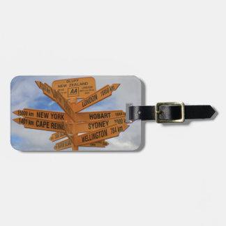 Bluff, New Zealand Travel Bag Tag