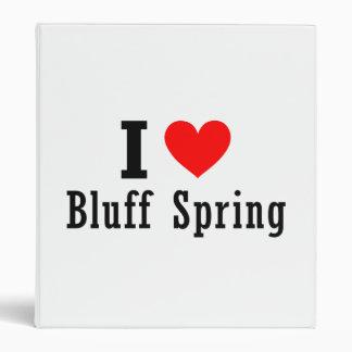 Bluff Spring, Alabama City Design 3 Ring Binder
