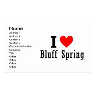 Bluff Spring, Alabama City Design Business Card