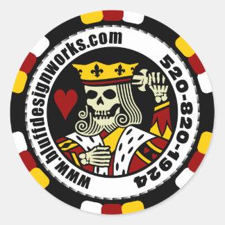 bluffdesignworks.com Poker Chip Sticker