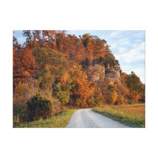Bluffs In Fall Canvas Print