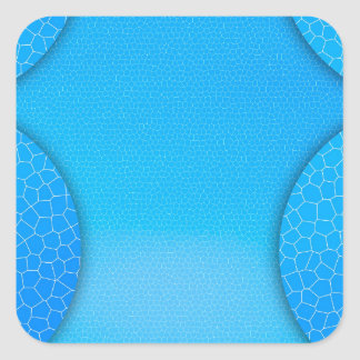 Bluie Pegatinas Cuadradas Personalizadas