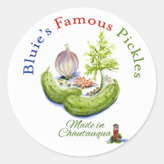 Bluie s Famous Pickles Sticker