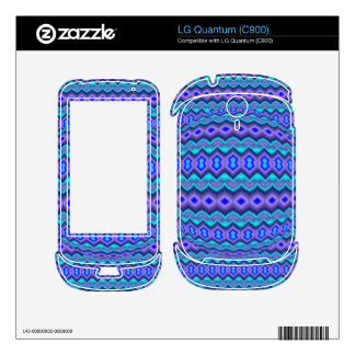 Bluish abstract pattern skins for the LG quantum