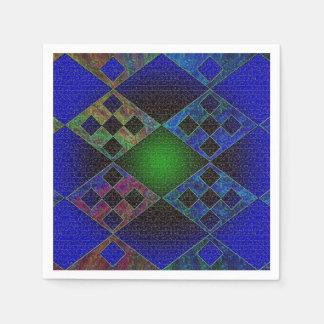 Bluish Elements Paper Napkin