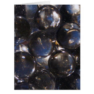 Bluish Glass Pebbles - abstract photograph Card