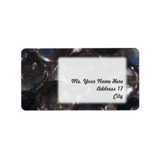 Bluish Glass Pebbles - abstract photograph Label