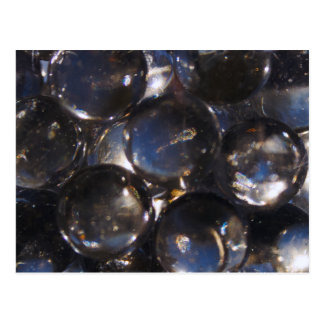Bluish Glass Pebbles - abstract photograph Postcard