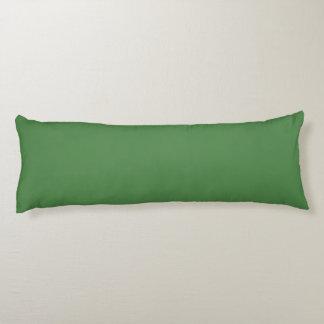 bluish green collard greens body pillow