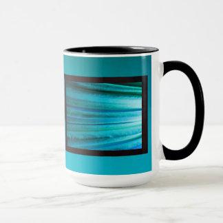 Bluish Green LED Abstract Mug
