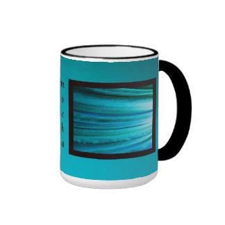 Bluish Green LED Abstract Ringer Mug