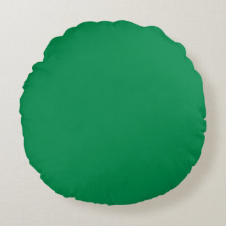 bluish green road sign round pillow