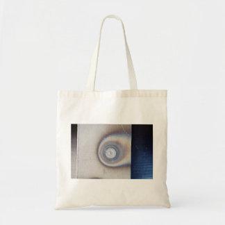 bluish metal ceramic texture budget tote bag