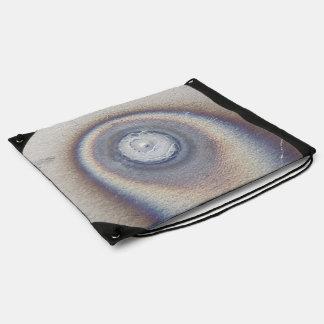 bluish metal ceramic texture backpack