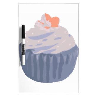 Bluish Purple Cupcake with Sparkles Dry-Erase Board