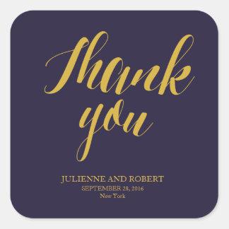 "Bluish | Rustic Chic Wedding ""Thank you"" Stickers"