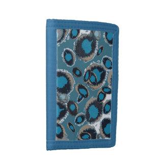 Bluish Smudge Spots Tri-fold Wallet