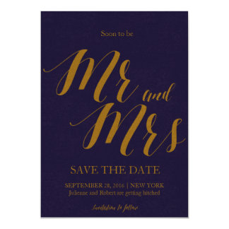 "Bluish | ""Soon to be Mr and Mrs"" Save the date Card"