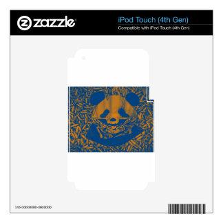 Bluish Yellow Gangsta Panda Decal For iPod Touch 4G