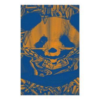Bluish Yellow Gangsta Panda Stationery