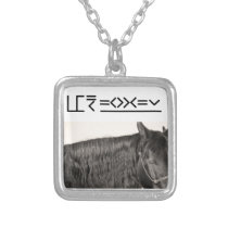 BluJean the Mustang Silver Plated Necklace