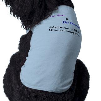 Blul blouse dog t-shirt