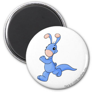 Blumaroo Blue 2 Inch Round Magnet