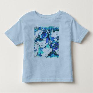 Blümchen en azul playera de bebé