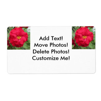 Blume de memoria color de rosa etiqueta de envío