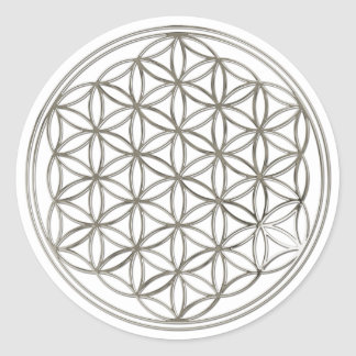 Blume des Lebens Flower Of Life silver big Sticker