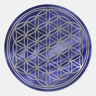 Blume des Lebens Flower Of Life silver royal Sticker
