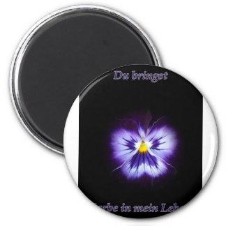 Blume Farbe Imán De Frigorífico
